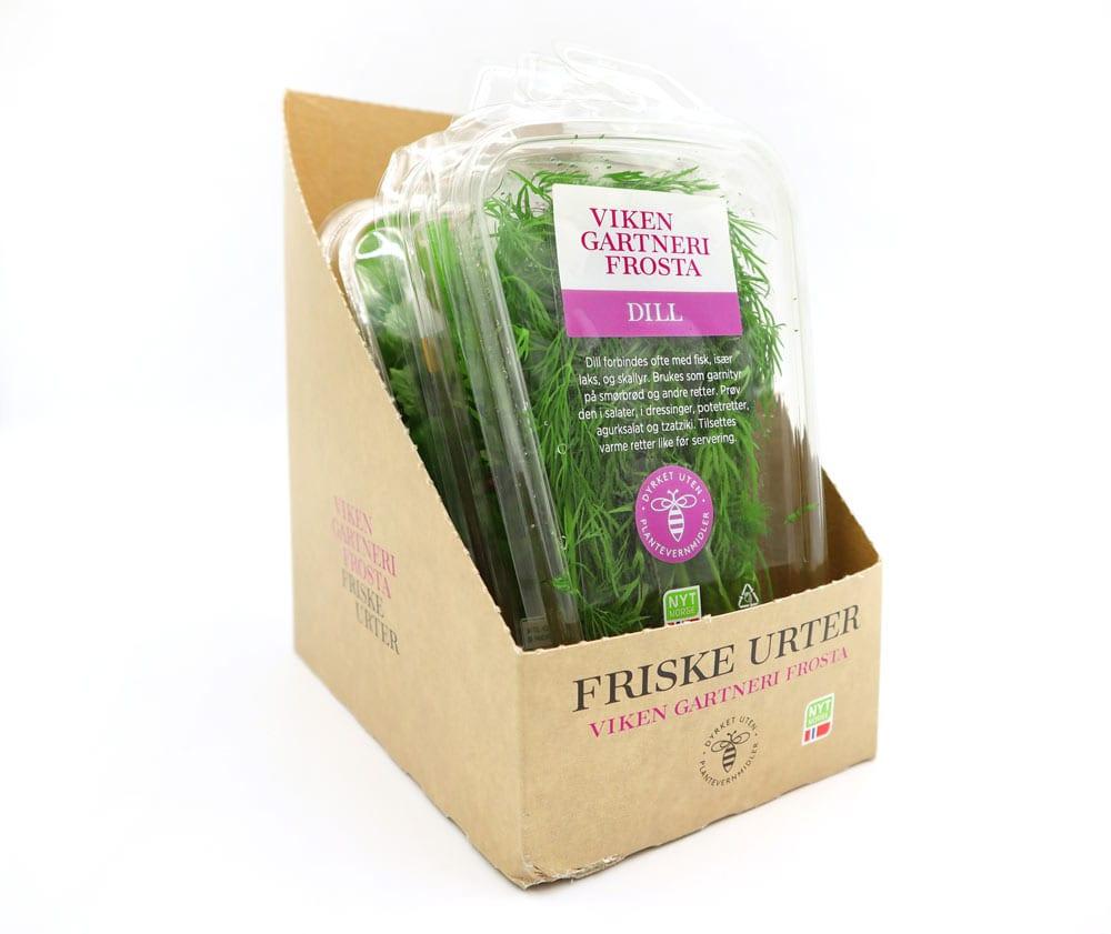 Miljøvennlig emballasje fra Viken Gartneri Frosta
