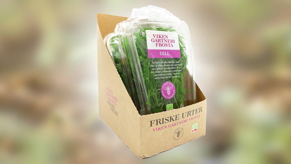 Miljøvennlig emballasje fra Viken Gartneri på Frosta